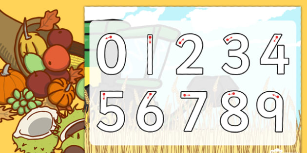 Harvest Number Formation Worksheet - harvest, number, worksheet, overwriting
