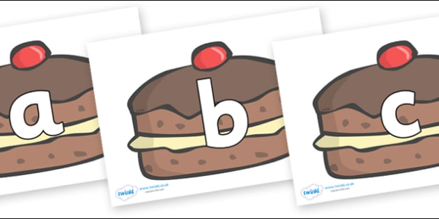 Phoneme Set on Chocolate Buns - Phoneme set, phonemes, phoneme, Letters and Sounds, DfES, display, Phase 1, Phase 2, Phase 3, Phase 5, Foundation, Literacy