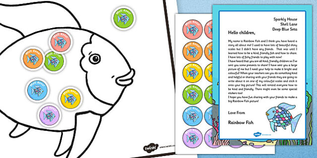 Sharing Activity Resource Pack to Support Teaching on The Rainbow Fish - rainbow fish, sharing