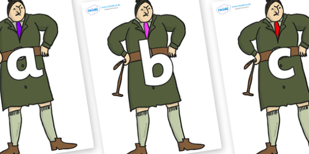 Phoneme Set on Mrs Trunchbull to Support Teaching on Matilda - Phoneme set, phonemes, phoneme, Letters and Sounds, DfES, display, Phase 1, Phase 2, Phase 3, Phase 5, Foundation, Literacy