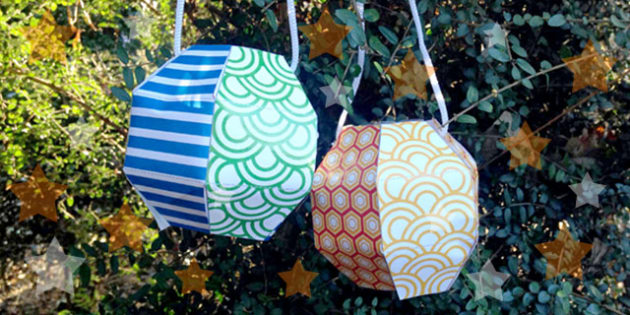 Chinese New-Year Paper Lantern Craft Activity - lantern, craft