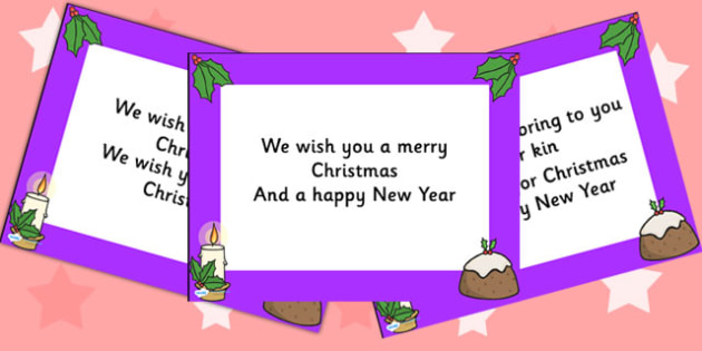 We Wish you a Merry Christmas Lyrics PowerPoint - christmas, xmas