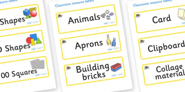 Busy Bee Themed Editable Classroom Resource Labels - Themed Label template, Resource Label, Name Labels, Editable Labels, Drawer Labels, KS1 Labels, Foundation Labels, Foundation Stage Labels, Teaching Labels, Resource Labels, Tray Labels, Printable