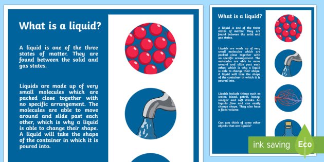 What is a Liquid? A4 Display Poster - Australia Science, australian curriculum, science, what's the matter, solid, liquid gas, solids liq