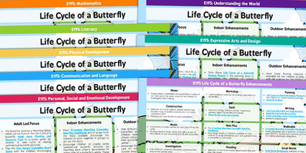 EYFS Life Cycle of a Butterfly Lesson Plan and Enhancement Ideas - planning