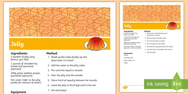 Jelly Recipe - jelly recipe, poster, display, jelly, recipe