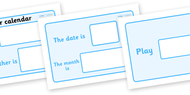 Playtime Weather Station - calendar, weather and seasons, weather, seasons, weather calendar, todays weather, the weather, classroom calendar, birthday
