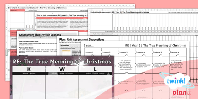 RE: The True Meaning of Christmas Year 5 Unit Assessment Pack