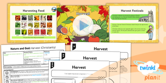 RE: Nature and God: Harvest (Christianity) Year 2 Lesson Pack 3