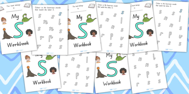 My Workbook S Uppercase - letter formation, fine motor skills