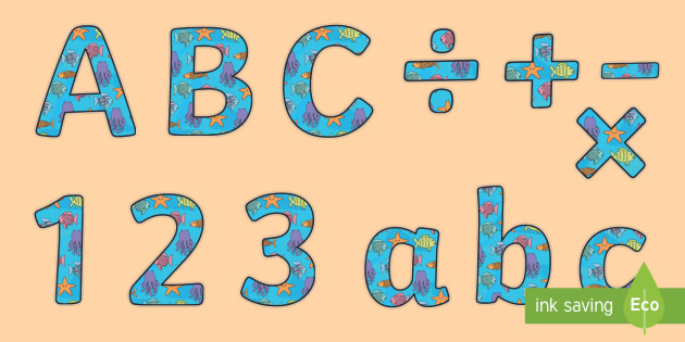 The Rainbow Fish Themed Display Lettering - the rainbow fish, display lettering, display, lettering