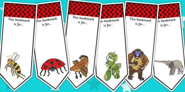 Editable Bookmarks to Support Teaching on The Bad Tempered Ladybird - book marks, reward