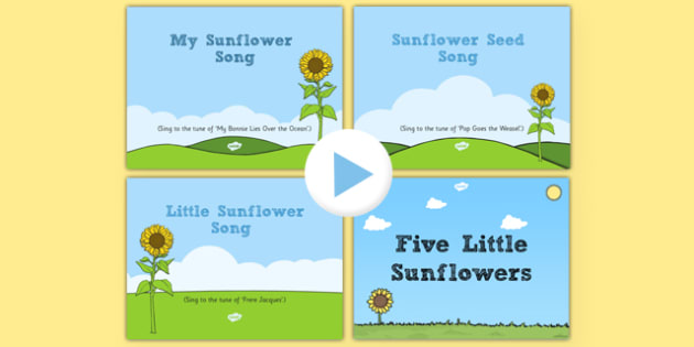 Sunflower Themed Songs and Rhymes PowerPoints Pack
