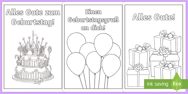 Birthday Cards German - Happy birthday, German, Geburtstag