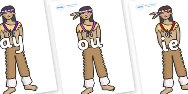 Phase 5 Phonemes on Native Americans - Phonemes, phoneme, Phase 5, Phase five, Foundation, Literacy, Letters and Sounds, DfES, display