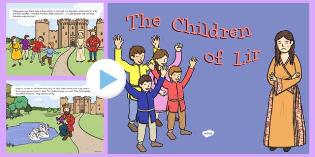 The Children Of Lir PowerPoint Story - Irish history, Irish story, Irish myth, Irish legends, The Children Of Lir, powerpoint