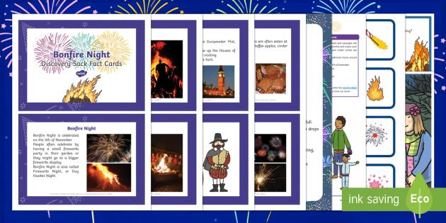 Bonfire Night Discovery Sack - Early Years, KS1, festivals, fireworks night, Guy Fawkes, Gunpowder Plot