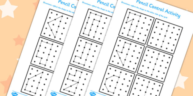 Pencil Control Reflection Sheets - pencil control, reflection, sheets
