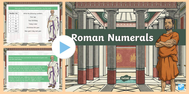 Roman Numerals Introduction PowerPoint - australia, numerals