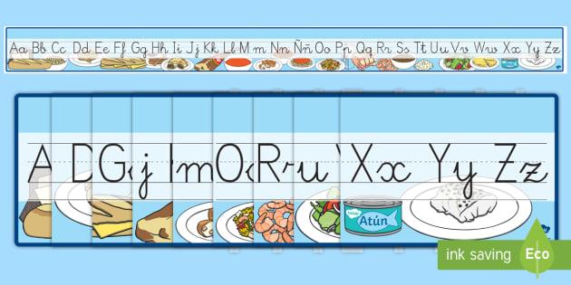 Recta alfabética de exposición: La comida  - comer sano, comida sana, comer saludable, comida saludable, fruta, verdura, dieta saludable, dieta s