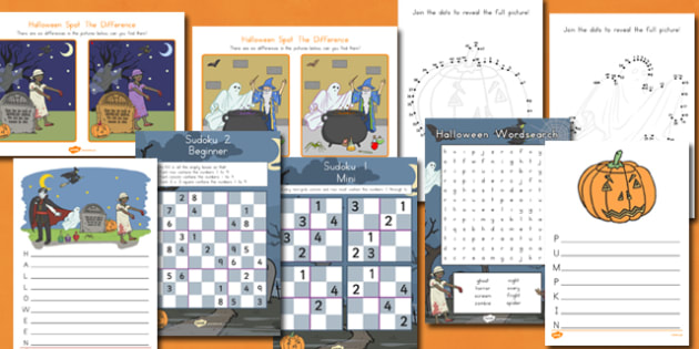 Halloween Activity Pack - resources, activities, games, fun, ideas, sheets, early years, ks1, key stage 1