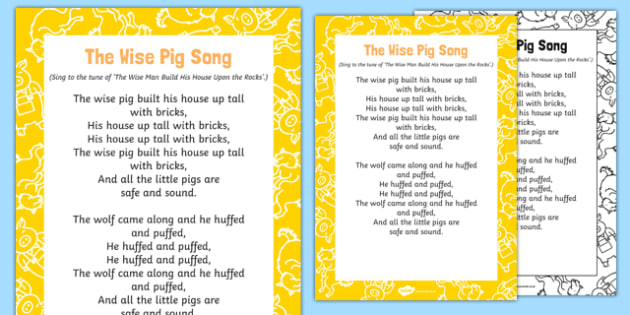 The Wise Pig Song