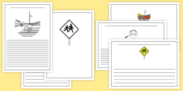 New Zealand Road Safety Writing Frames