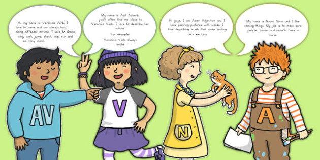Grammar Gang Character Cut Outs - SPaG, english, writing, KS2, Key stage 2, sentences, word class, display, visual aids, Australia
