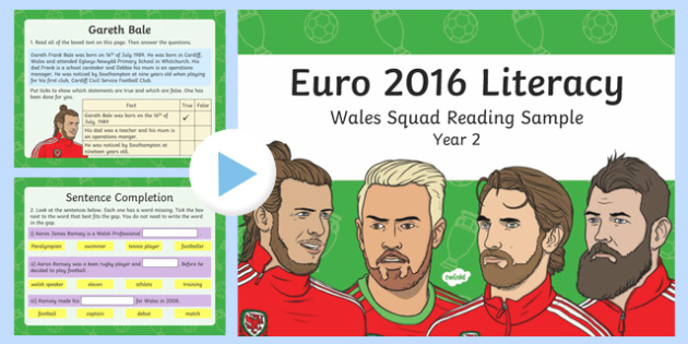 Wales Squad Reading Comprehension Year 2 PowerPoint-Welsh