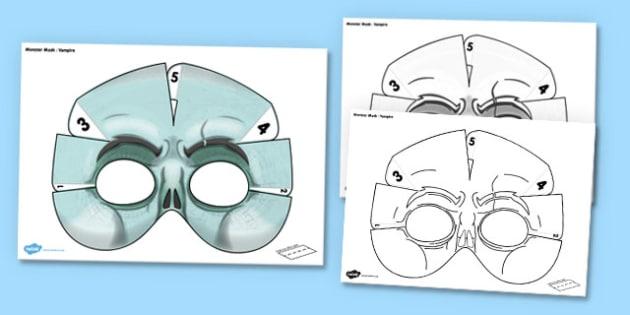 Vampire Mask 3D Printable - vampire mask, 3d, printable, vampire, mask, halloween, monster