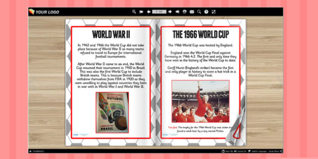 The History of the World Cup eBook - world cup, football, sports
