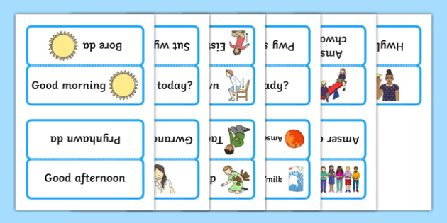 Word Cards for Bocs or Bag Helpwr Heddiw Nursery Reception bilingual resource - welsh, cymraeg, Word Cards, Welsh Second Language, Helpwr Heddiw