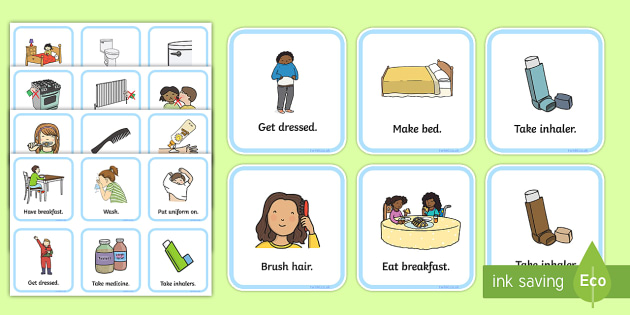 SEN Communication Cards Daily Routine - SEN, communication cards, daily routine, my environment, Visual Timetable, SEN, Daily Timetable, boys, School Day, Daily Activities, Daily Routine KS1