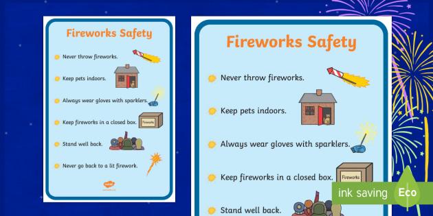 Fireworks Safety Display Poster