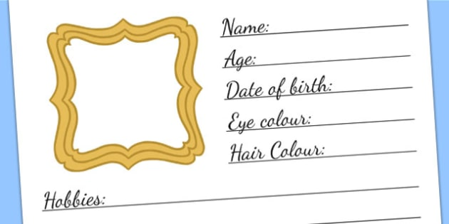 All About Me Template - ourselves, PSHE, writing template, write