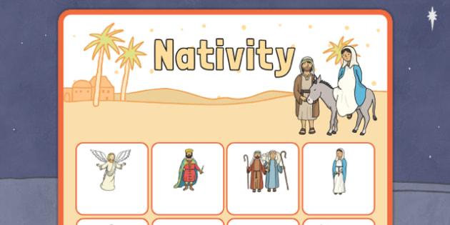Nativity Vocabulary Matching Mat - nativity, vocabulary, matching mat, word mat, vocabulary mat, vocab mat, keyword, key word mat, nativity vocabulary