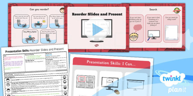 PowerPoint Presentation Skills: Reorder Slides and Present - Year 2 Computing Lesson Pack