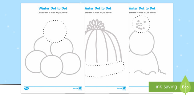 Winter Themed Dot to Dot Activity Sheets
