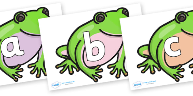 Phoneme Set on Green Tree Frog - Phoneme set, phonemes, phoneme, Letters and Sounds, DfES, display, Phase 1, Phase 2, Phase 3, Phase 5, Foundation, Literacy