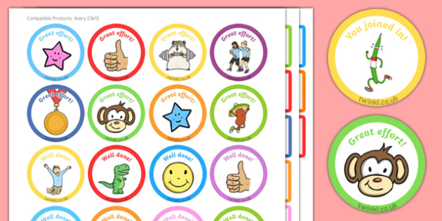 EYFS Multi-Skills Sports Day Sticker Pack