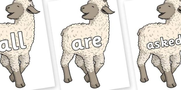 Tricky Words on Lamb - Tricky words, DfES Letters and Sounds, Letters and sounds, display, words