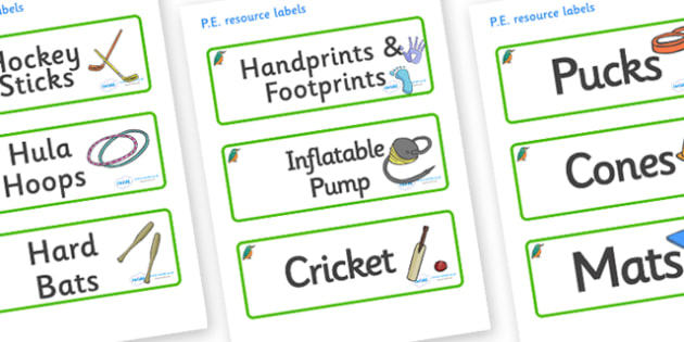 Kingfisher Themed Editable PE Resource Labels - Themed PE label, PE equipment, PE, physical education, PE cupboard, PE, physical development, quoits, cones, bats, balls, Resource Label, Editable Labels, KS1 Labels, Foundation Labels, Foundation Stage