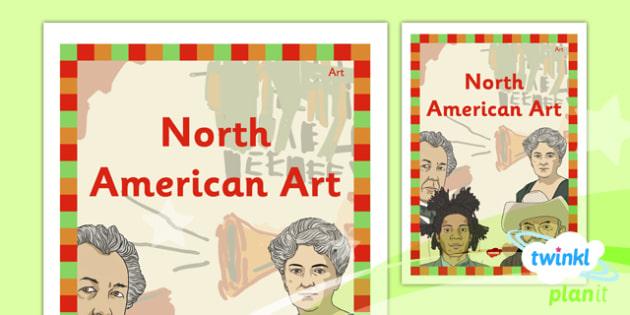 Art: North American Art UKS2 Unit Book Cover