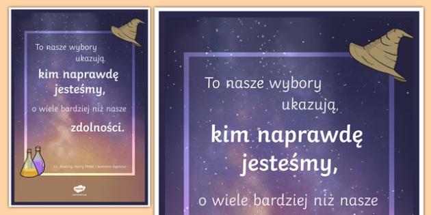 Plakat motywacyjny Nasze wybory po polsku