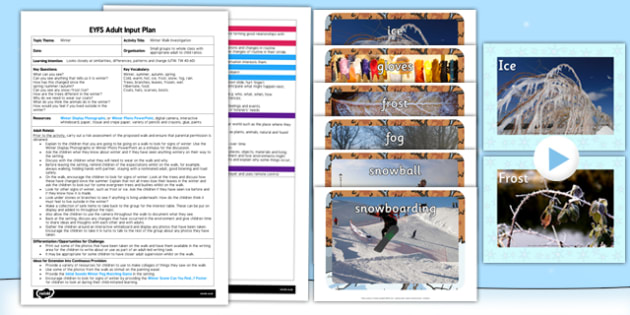 Winter Walk Investigation EYFS Adult Input Plan and Resource Pack - lesson plan