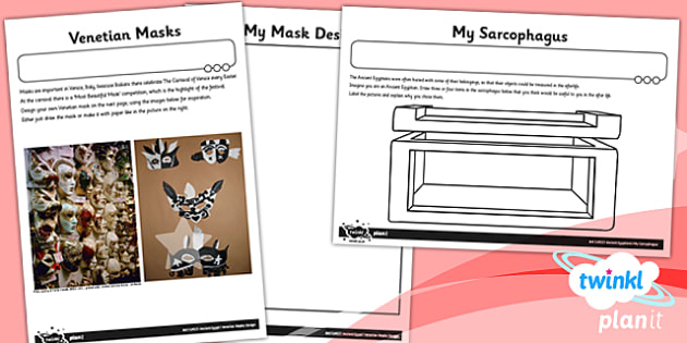 Art: Ancient Egypt UKS2 Unit Home Learning Tasks