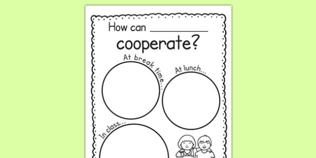 Cooperation Writing Frame - cooperation, co-operation, co operation, writing frame, writing, frame