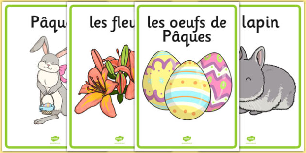 Easter Display Posters French - french, easter, display posters, easter display