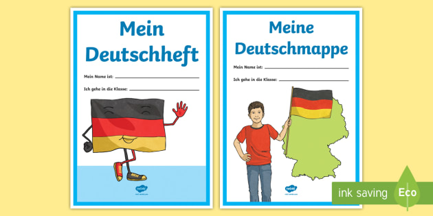 German Subject Folder and Book Cover Sheets - Back to School, School, German