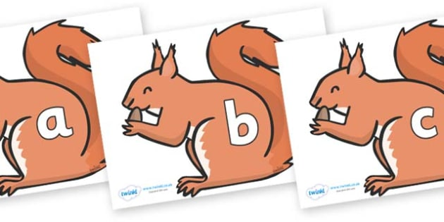 Phase 2 Phonemes on Red Squirrels - Phonemes, phoneme, Phase 2, Phase two, Foundation, Literacy, Letters and Sounds, DfES, display